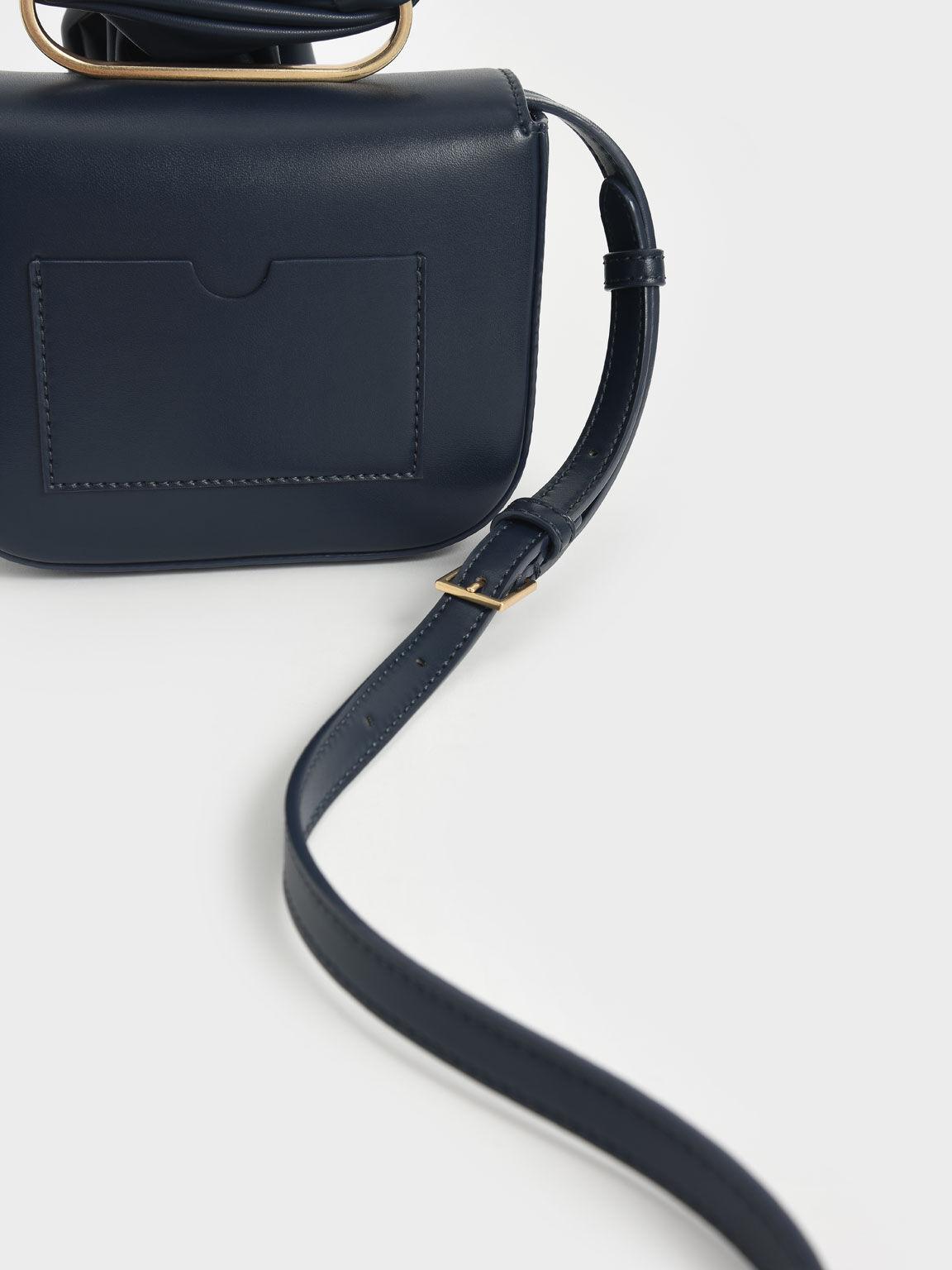 Knotted Wristlet Bag, Navy, hi-res