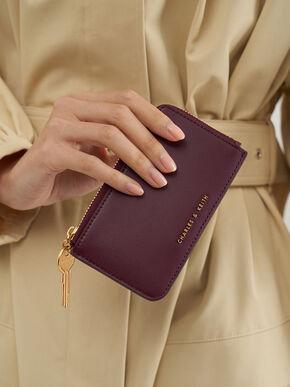 Zip Around Mini Wallet, Purple, hi-res