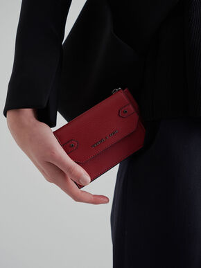 Multi-Slot Card Holder, Red, hi-res