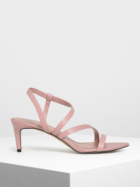 Open Toe Strappy Sandals, Blush, hi-res