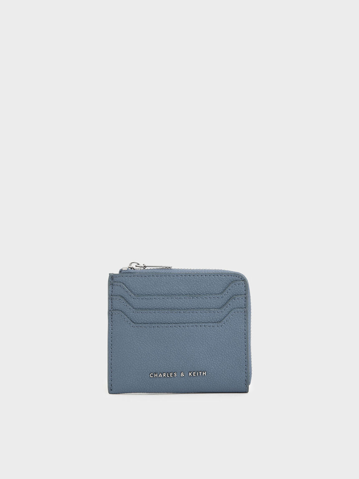 Small Zip Pouch, Slate Blue, hi-res
