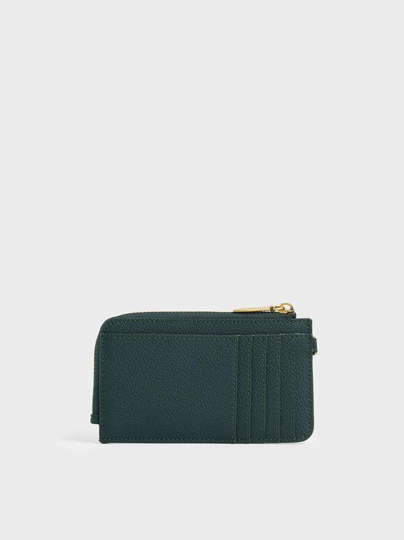 Multi-Slot Wristlet Card Holder, Dark Green, hi-res