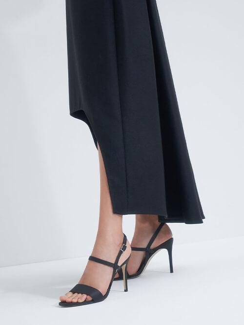รองเท้าแตะส้นสูง Slingback Heeled Sandals