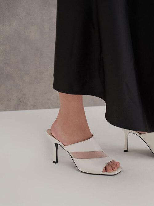 รองเท้าเปิดส้น Mesh Panel Mules