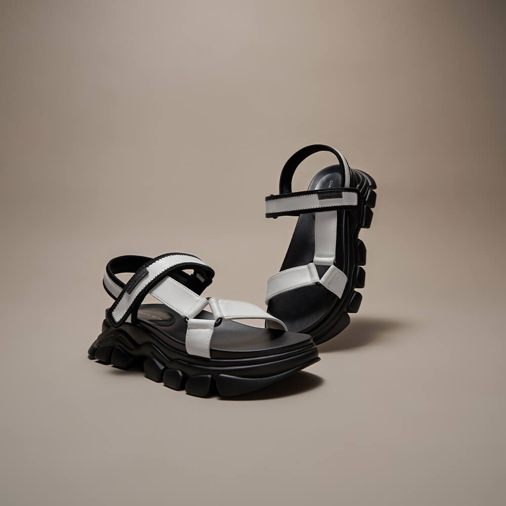 Women's Dash chunky sandals in white - CHARLES & KEITH